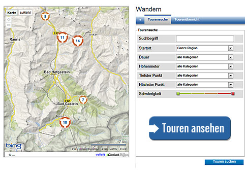 Hiking Tour Finder Gastein